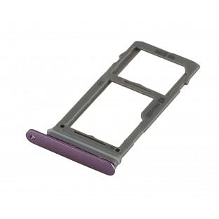 Samsung Galaxy S9 Plus / S9 Sim + Micro SD Tray Karten Schlitten Adapter Lila OEM