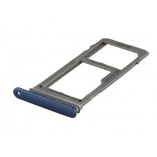 Samsung Galaxy S9 Plus / S9 Sim + Micro SD Tray Karten Schlitten Adapter Blau OEM