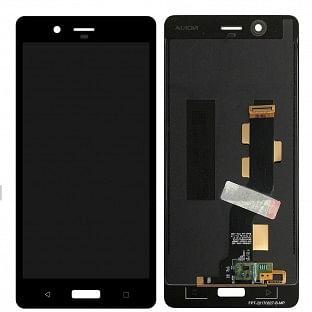 Nokia 8 LCD Ersatzdisplay Schwarz OEM