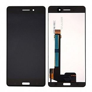 Nokia 6 LCD Ersatzdisplay Schwarz OEM