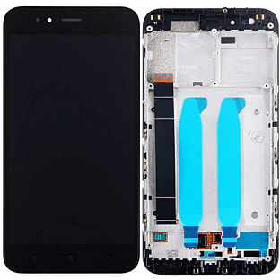 Xiaomi Mi A1 LCD Ersatzdisplay + Rahmen Vormontiert Schwarz OEM