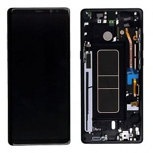 Samsung Galaxy Note 8 LCD Digitizer Ersatzdisplay + Rahmen Vormontiert Schwarz Original