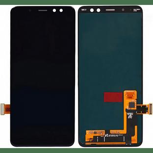 Samsung Galaxy A8 (2018) LCD Digitizer Front Ersatzdisplay Schwarz Original