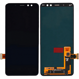 Samsung Galaxy A8 Plus (2018) LCD Digitizer Front Ersatzdisplay Schwarz Original