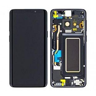 Samsung Galaxy S9 Plus LCD Digitizer Ersatzdisplay + Rahmen Vormontiert Schwarz Original