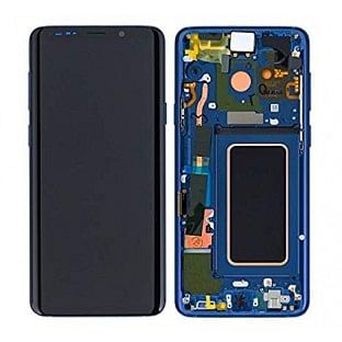 Samsung Galaxy S9 Plus LCD Digitizer Ersatzdisplay + Rahmen Vormontiert Blau Original