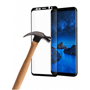Eiger Samsung Galaxy S9 3D Panzer Glas Display Schutzfolie mit Rahmen Schwarz (EGSP00192)