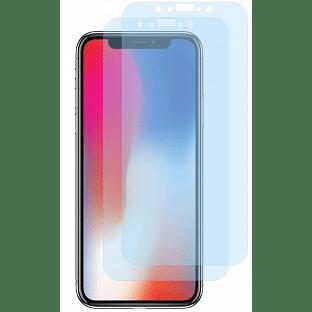 2er Set Crocfol iPhone Xs / X Flüssig Glas Display Schutzfolie Transparent (DF4536-CF)