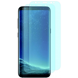 2er Set Crocfol Samsung Galaxy S9 Plus Flüssig Glas Display Schutzfolie Transparent (DF4693-CF)
