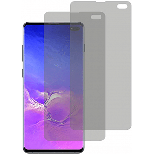 2er Set Crocfol Samsung Galaxy S10 Plus Flüssig Glas Display Schutzfolie Transparent (DF4950-CF)