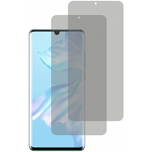 2er Set Crocfol Huwei P30 Flüssig Glas Display Schutzfolie Transparent (DF5013-CF)