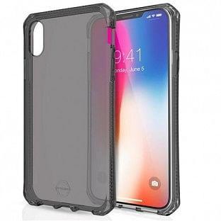 ITSkins iPhone Xs Max Spectrum Schutz Hardcase Hülle (Fallschutz 2 Meter) Transparent / Schwarz (APXP-SPECM-BLCK)