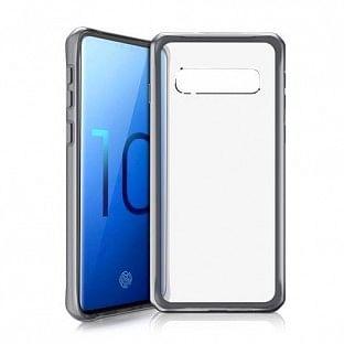 ITSkins Samsung Galaxy S10 Hybrid MKII Schutz Hardcase Hülle (Fallschutz 2 Meter) Schwarz (SGS0-HYBMK-BKTR)