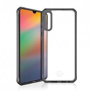 ITSkins Samsung Galaxy A70 Hybrid Clear Schutz Hardcase Hülle (Fallschutz 2 Meter) Transparent / Schwarz (SG07-HBMKC-BKTR)