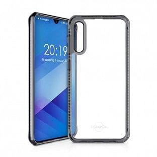 ITSkins Samsung Galaxy A50 Hybrid MKII Schutz Hardcase Hülle (Fallschutz 2 Meter) Transparent / Schwarz (SG05-HBMKC-BKTR)