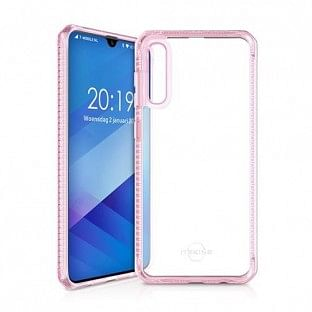 ITSkins Samsung Galaxy A50 Hybrid MKII Schutz Hardcase Hülle (Fallschutz 2 Meter) Transparent / Pink (SG05-HBMKC-LKTR)