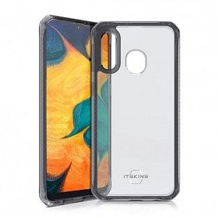 ITSkins Samsung Galaxy A40 Hybrid MKII Schutz Hardcase Hülle (Fallschutz 2 Meter) Transparent / Schwarz (SG04-HBMKC-BKTR)