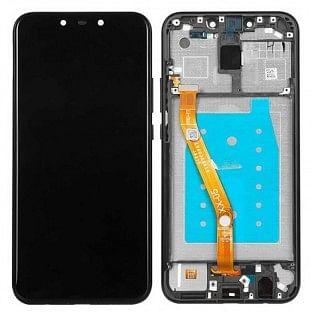 Huawei Mate 20 Lite LCD Digitizer Ersatzdisplay + Rahmen Vormontiert Schwarz OEM