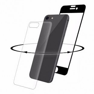 "Apple iPhone 8+, 7+, 6S+, 6+Display-Glas""360° Protection Set black"""